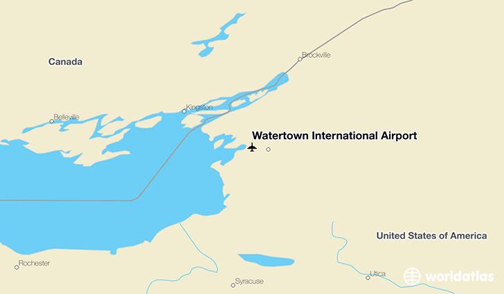 watertown international airport art worldatlas. Black Bedroom Furniture Sets. Home Design Ideas