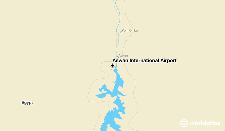 Aswan International Airport location on a map