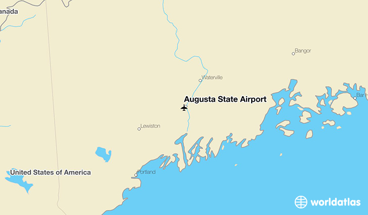Augusta State Airport location on a map