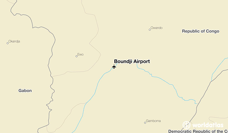 Boundji Airport location on a map
