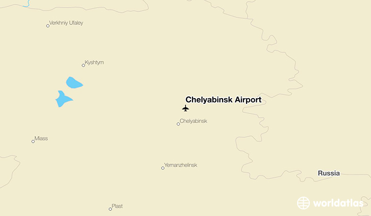 Chelyabinsk Airport location on a map