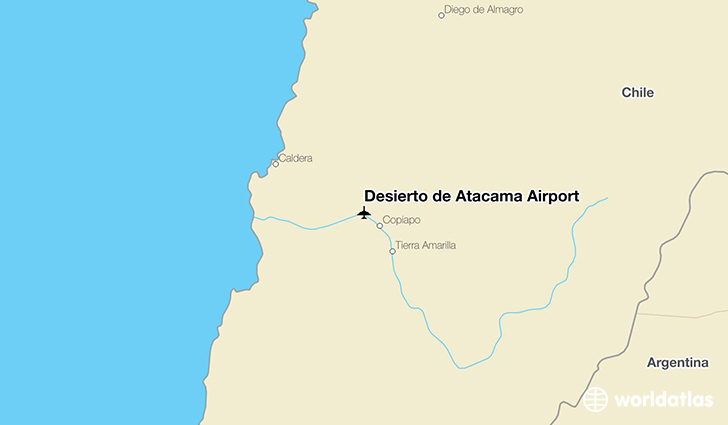 Desierto de Atacama Airport location on a map