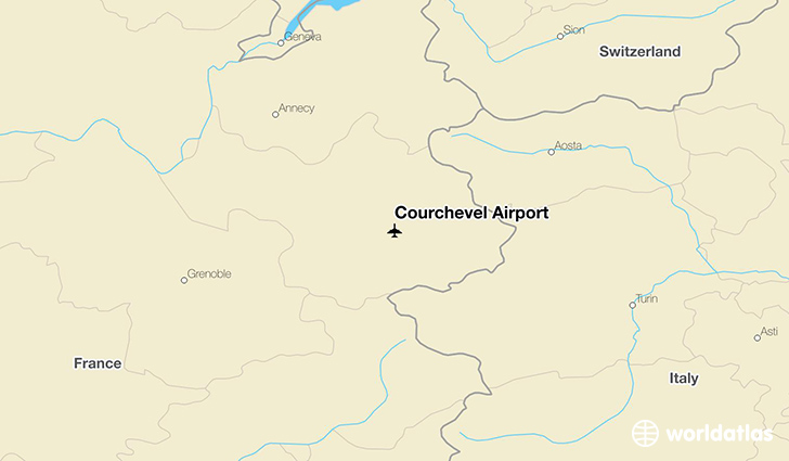 Courchevel Airport location on a map