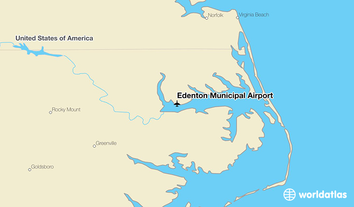 Edenton Municipal Airport location on a map