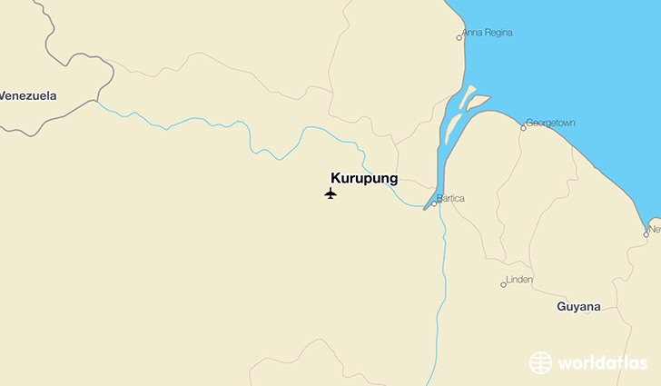 Kurupung location on a map
