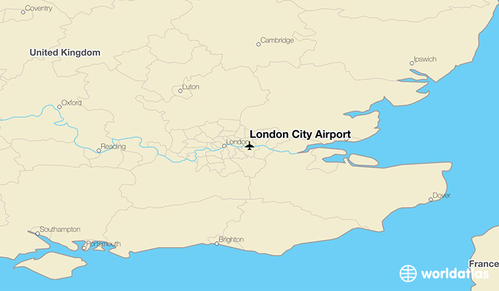 London City Area Map.London City Airport Lcy Worldatlas