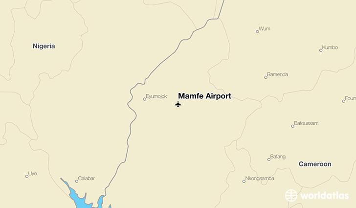 Mamfe Airport location on a map