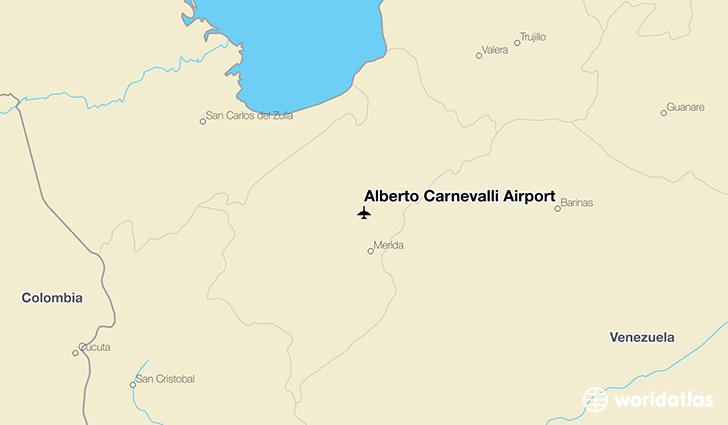 Alberto Carnevalli Airport location on a map