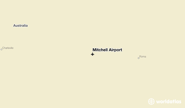 Mitchell Airport location on a map