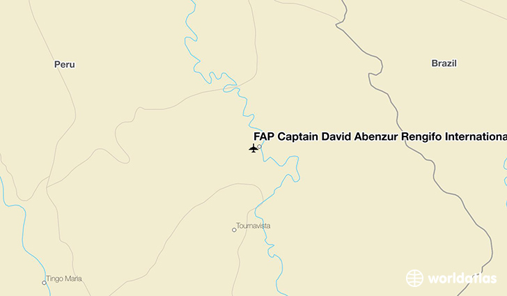 FAP Captain David Abenzur Rengifo International Airport location on a map