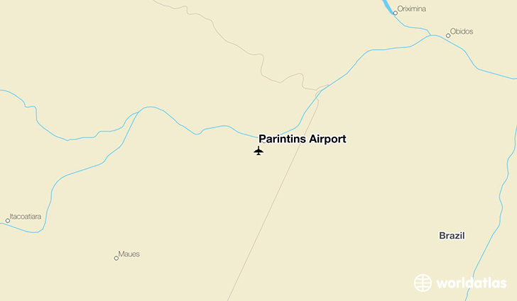 Parintins Airport location on a map