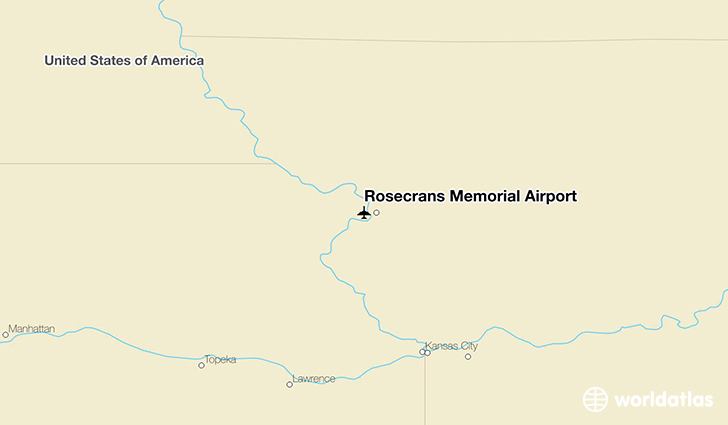 Rosecrans Memorial Airport location on a map