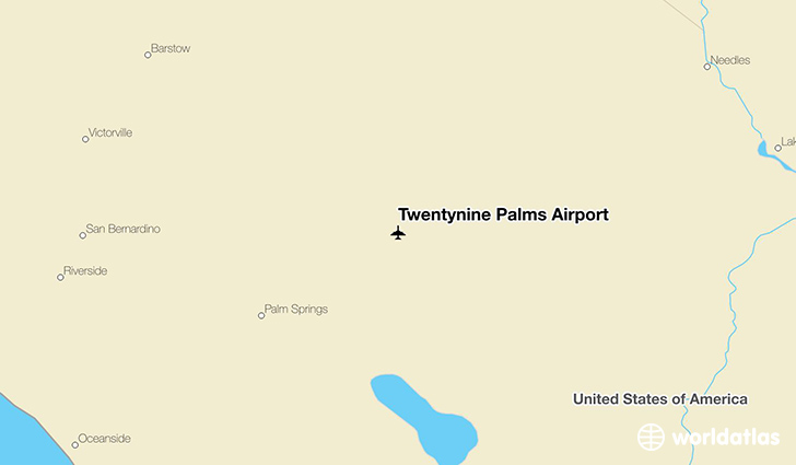 Twentynine Palms Airport location on a map
