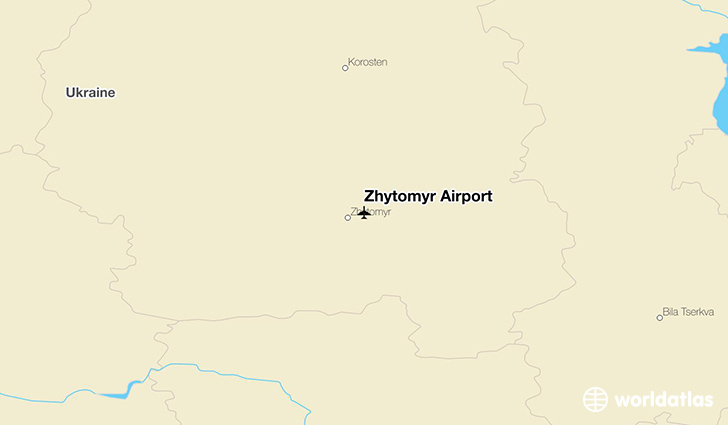 Zhytomyr Airport location on a map