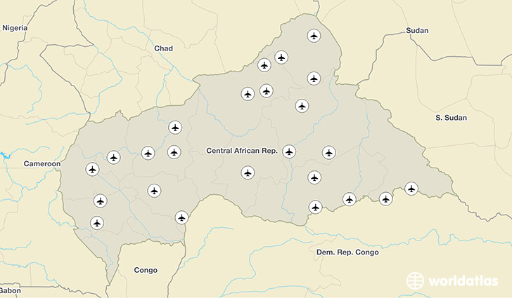 Central African Republic airports