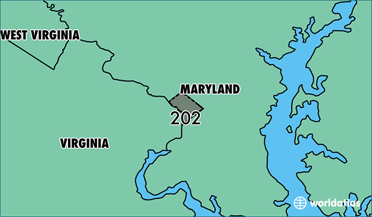 Where Is Area Code Map Of Area Code Washington DC - Area code 202 timezone