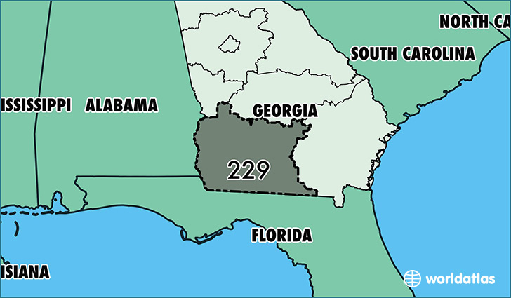 Where Is Area Code 229 / Map Of Area Code 229 / Albany, GA Area Code