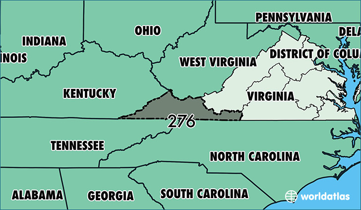 Where Is Area Code 276 Map Of Area Code 276 Martinsville Va