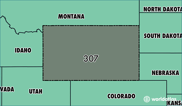 Where Is Area Code 307 Map Of Area Code 307 Cheyenne Wy Area Code
