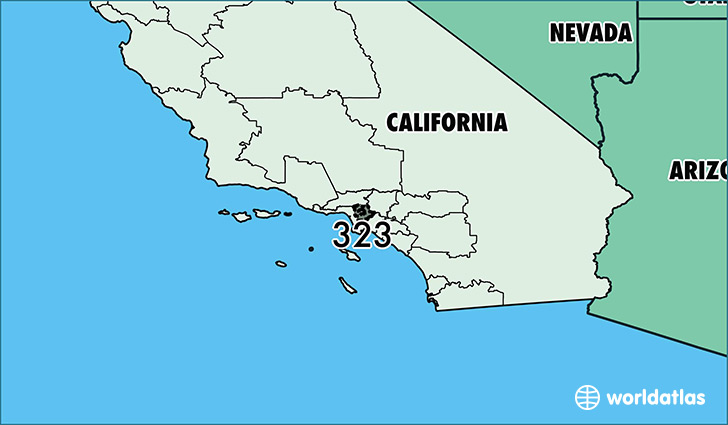 Where Is Area Code Map Of Area Code Los Angeles CA - Us map area codes