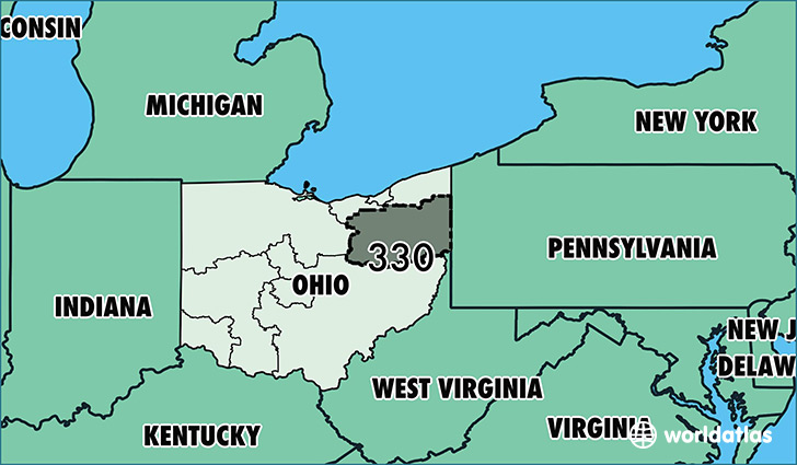 Where Is Area Code Map Of Area Code Akron OH Area Code - 330 area code usa