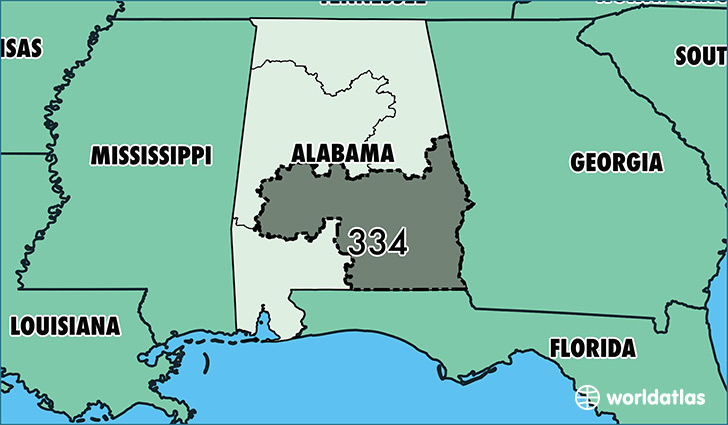 Where Is Area Code Map Of Area Code Montgomery AL - Alabama on us map