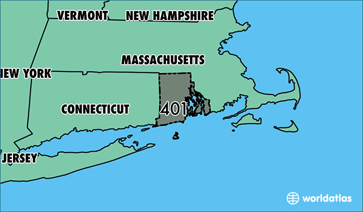 Where Is Area Code 401 Map Of Area Code 401 Providence RI Area Code