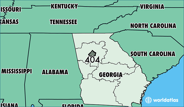 Where Is Area Code 404 / Map Of Area Code 404 / Atlanta, GA Area Code