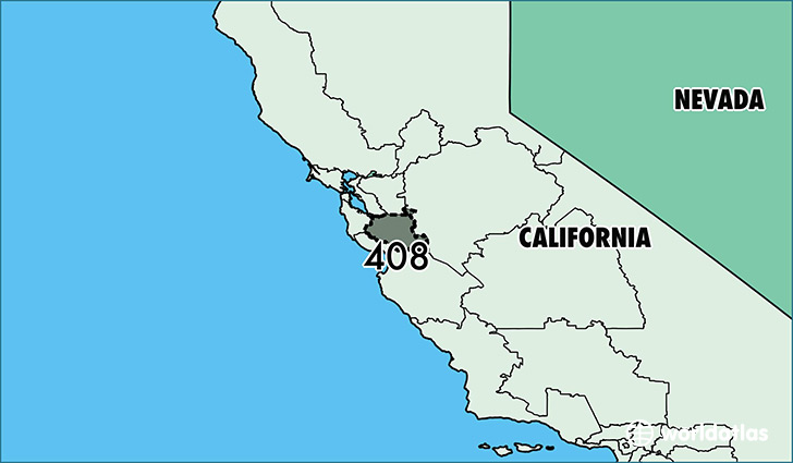 Where Is Area Code 408 / Map Of Area Code 408 / San Jose, CA ...