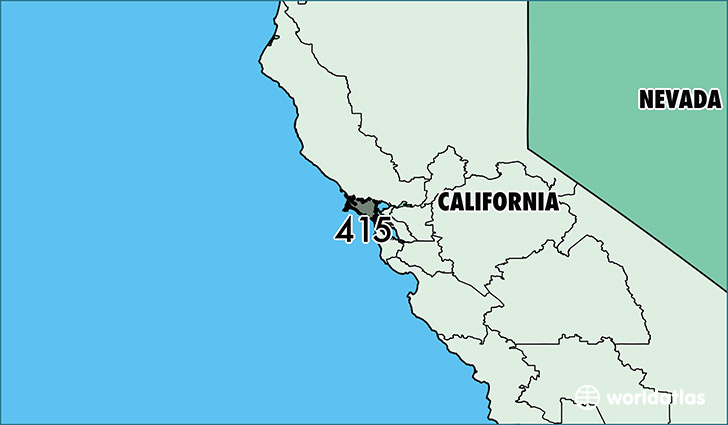Where Is Area Code 415 Map Of Area Code 415 San Francisco Ca