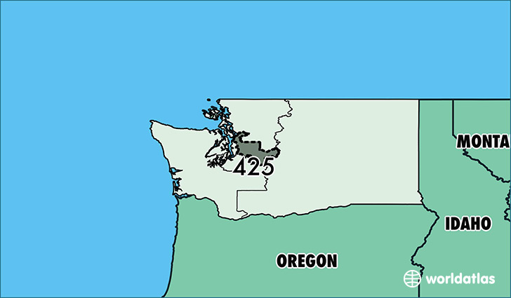 Where Is Area Code 425 / Map Of Area Code 425 / Everett, WA ...