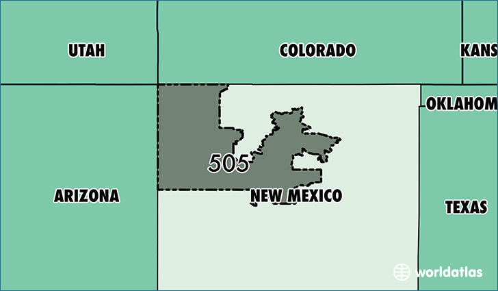 Where Is Area Code 505 Map Of Area Code 505 Albuquerque Nm Area