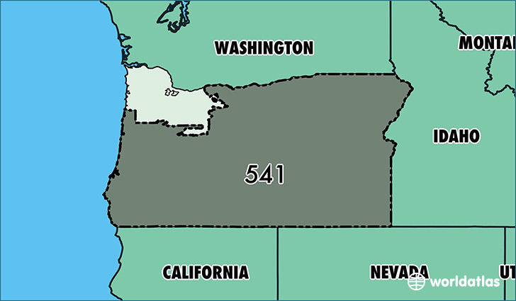 Where Is Area Code 541 Map Of Area Code 541 Eugene Or Area Code