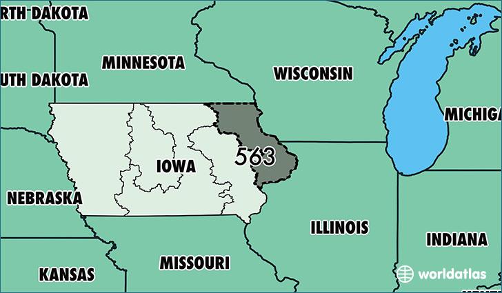 Where Is Area Code Map Of Area Code Davenport IA Area - Iowa map usa