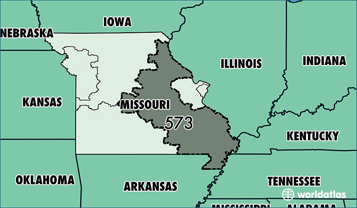Where Is Area Code 573 / Map Of Area Code 573 / Columbia, MO Area Code