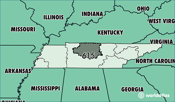 Where Is Area Code 615 / Map Of Area Code 615 / Nashville, TN Area Code
