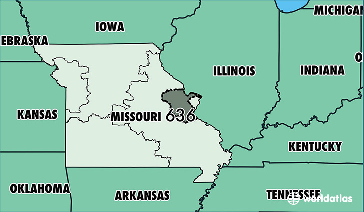 Where Is Area Code 636 / Map Of Area Code 636 / Saint Charles, MO ...