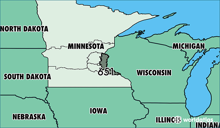 Where Is Area Code Map Of Area Code Saint Paul MN - Area code wisconsin map