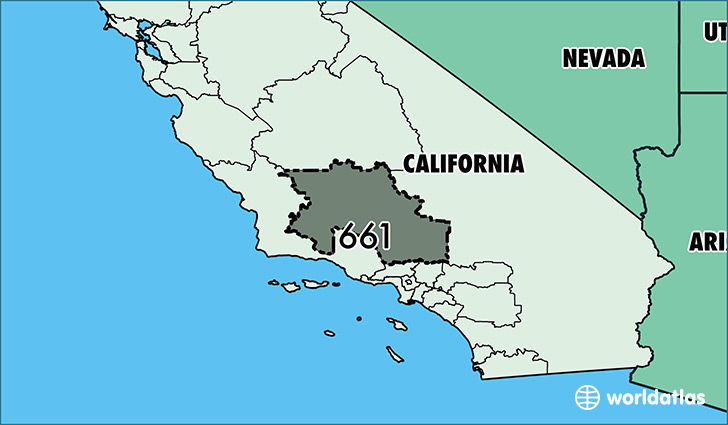Where Is Area Code Map Of Area Code Bakersfield CA - Us map with california highlighted