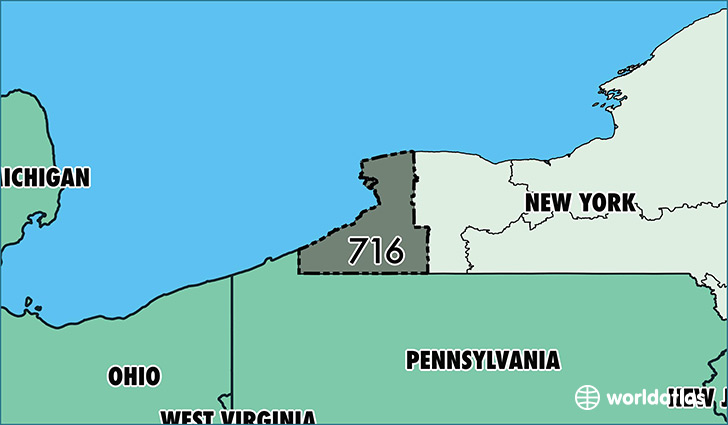 Where Is Area Code 716 Map Of Area Code 716 Buffalo NY Area Code
