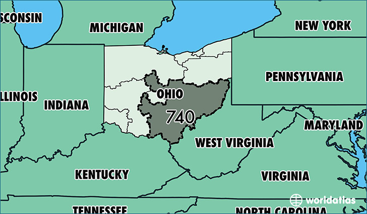 Where Is Area Code Map Of Area Code Lancaster OH Area - Area code 614 usa