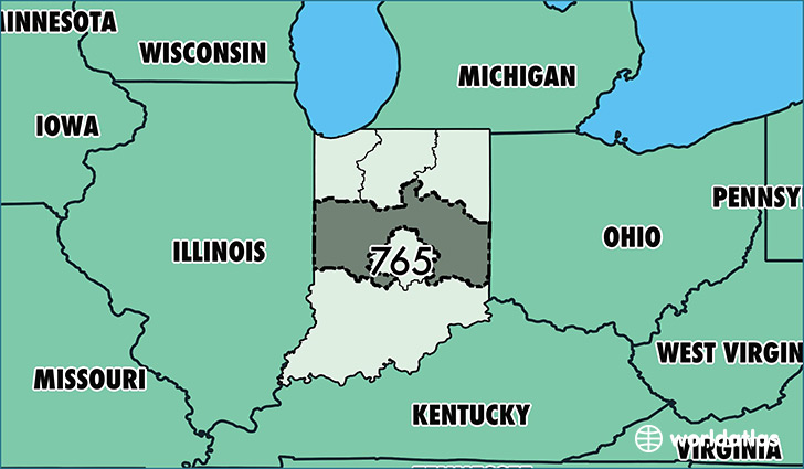 Muncie Zip Code Map.Where Is Area Code 765 Map Of Area Code 765 Lafayette In Area Code