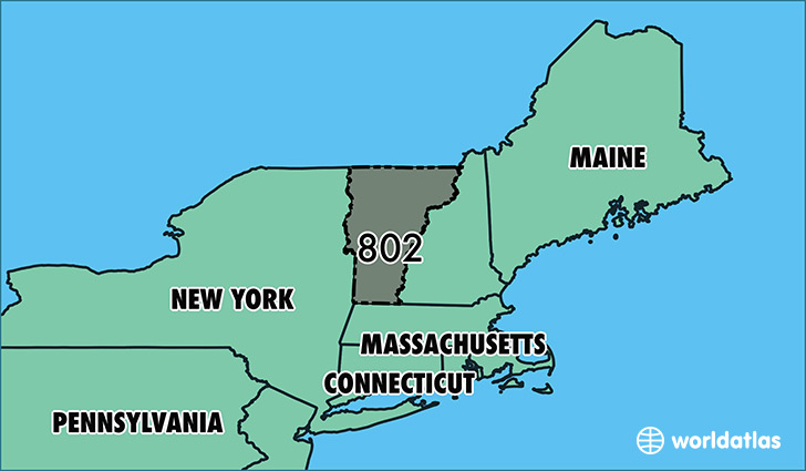 Where Is Area Code 802  Map Of Area Code 802  Burlington VT