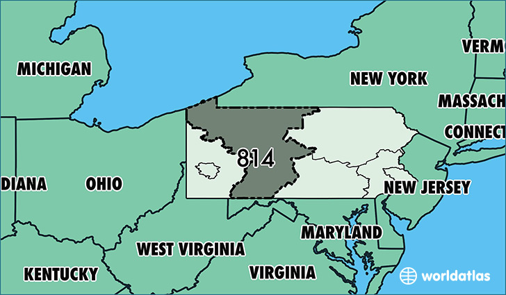 Where Is Area Code 814 Map Of Area Code 814 Erie PA Area Code