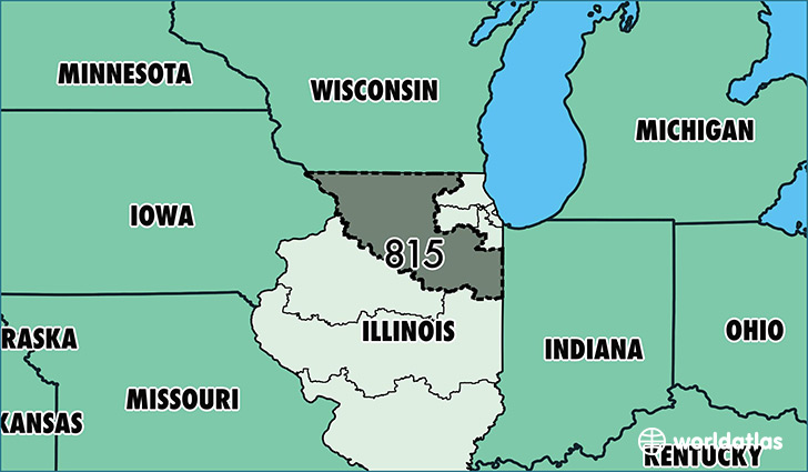 Where Is Area Code 815 Map Of Area Code 815 Rockford Il Area Code