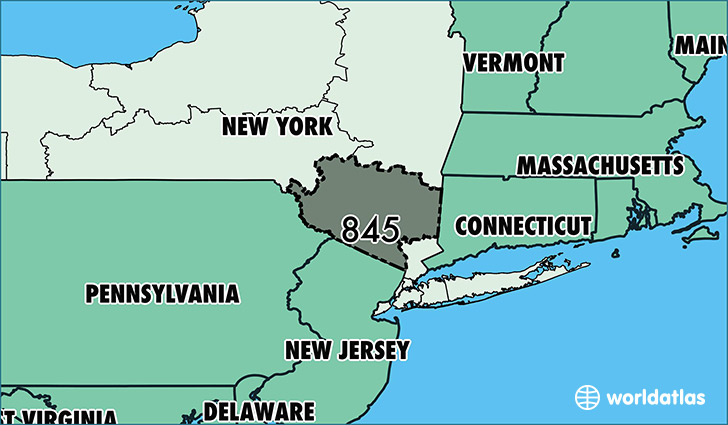 Map Of New York And Surrounding Areas.Where Is Area Code 845 Map Of Area Code 845 Poughkeepsie Ny