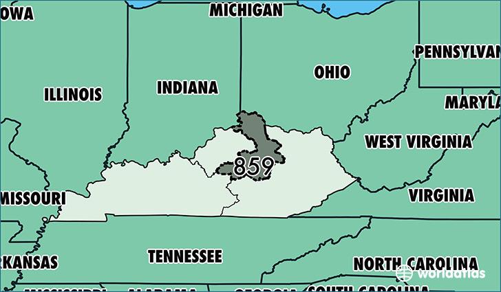 ... Is Area Code 859 / Map Of Area Code 859 / Lexington, KY Area Code