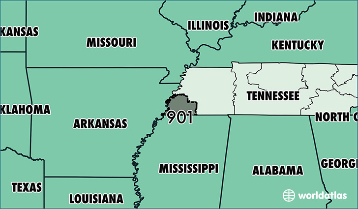 Where Is Area Code Map Of Area Code Memphis TN Area Code - Memphis tennessee on us map