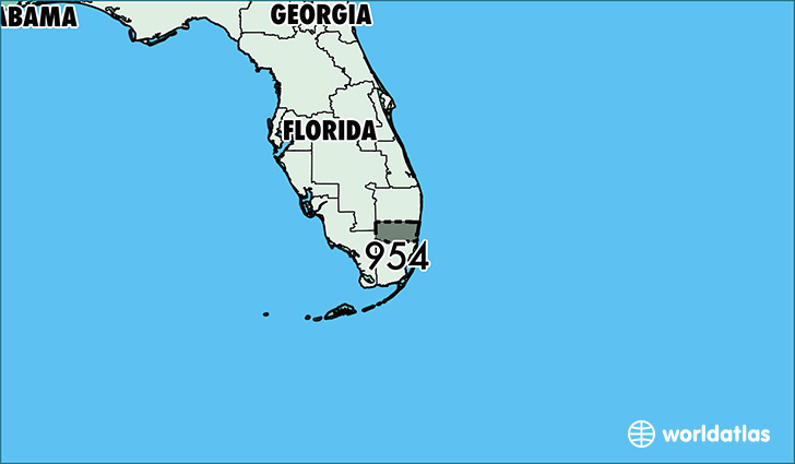 Florida Area Code Map.Where Is Area Code 954 Map Of Area Code 954 Fort Lauderdale Fl