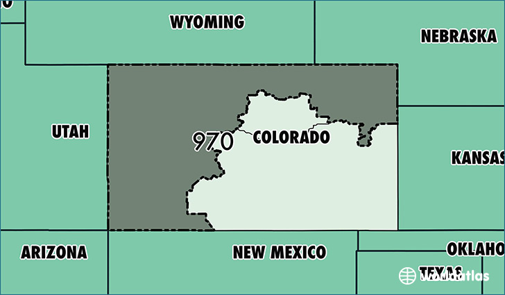 Where Is Area Code 970 Map Of Area Code 970 Fort Collins CO